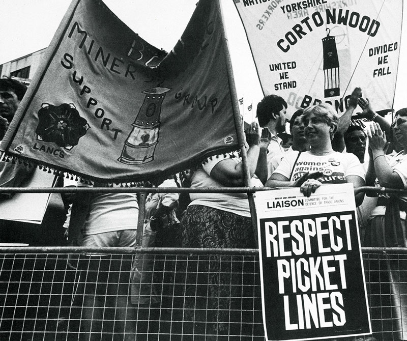 Girl with Respect Picket Lines placard